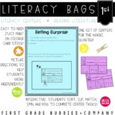 1st Grade Reading Literature Literacy Bags: 10 Reading Centers for RL Skills