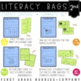 2nd Grade Literacy Bags  : A Bundle of 40 Reading Centers