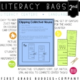 Literacy Bags for 2nd Grade: Language Skills {10 Literacy Centers}