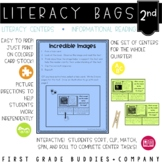 2nd Grade Informational Reading Literacy Bags: 10 Reading Centers for RI Skills