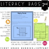 2nd Grade Reading Literature Literacy Bags: 10 Reading Centers for RL Skills