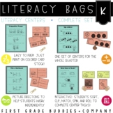 Literacy Bags for Kindergarten  (40 Common Core Aligned Language Arts Centers)