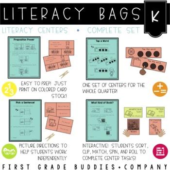 Literacy Bags for Kindergarten  (40 Common Core Aligned La