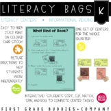 Kindergarten Informational Reading Literacy Bags: Reading Centers for RI Skills