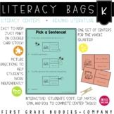 Kindergarten Reading Literature Literacy Bags: Reading Centers for RL Skills