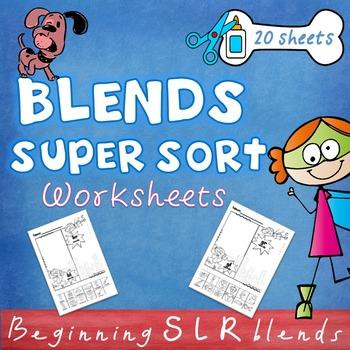 Beginning L R S Blends Worksheets