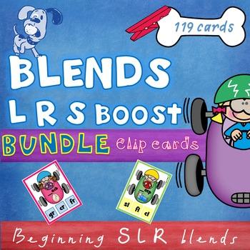 Beginning L R S Blends Clip Cards BUNDLE