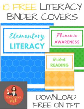 Literacy Binder Covers - FREEBIE