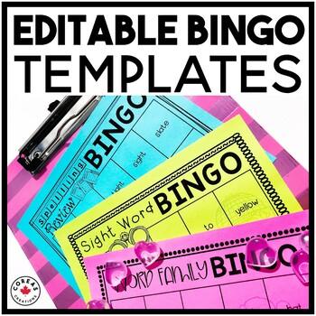 Literacy Bingo Templates | EDITABLE