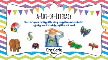 Literacy Bingo and more with Eric Carle