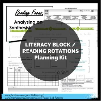 Literacy Block / Reading Rotations PLANNING KIT