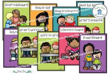 Literacy Task Board Class Decor