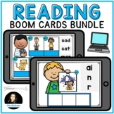Reading Boom Cards Distance Learning BUNDLE with Audio Sound