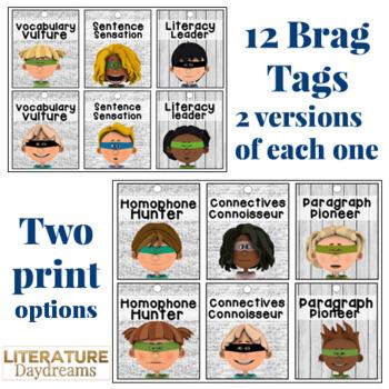 Literacy Brag Tags