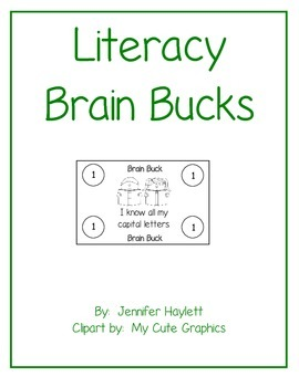 Literacy Brain Bucks