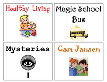 Literacy Browing Box Labels for Classroom Libraries