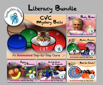Literacy Bundle - Animated Step-by-Steps® - SymbolStix