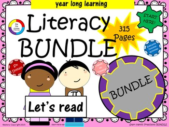 Early Literacy Bundle - Games, Center Set-Up, and Activiti