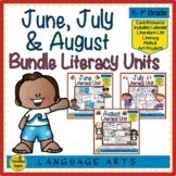 June, July & August Literacy Units Bundle: Student Activit