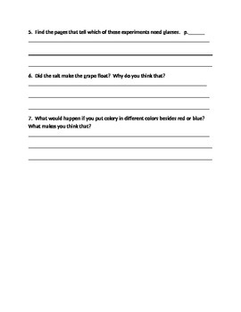 Literacy By Design - Guided Reading Questions for Kitchen Table Science Level J