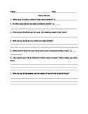 Literacy By Design - Guided Reading Questions for Plants W