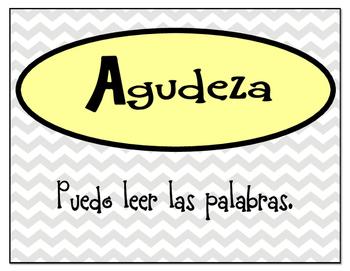 Spanish and English Literacy CAFE Menu Headers