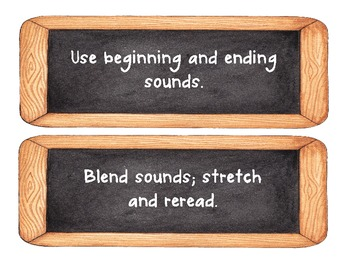 Literacy CAFE signs - Chalkboard Theme