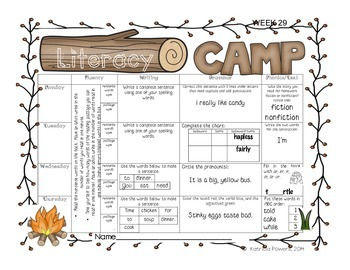 Literacy Camp Fourth 9 Weeks
