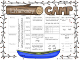 Literacy Camp Full Year of Literacy Homework BUNDLE {DIBEL