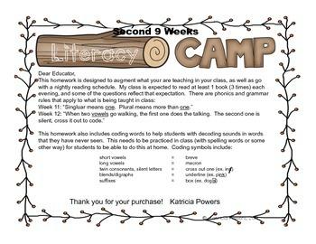 Literacy Camp Second 9 Weeks