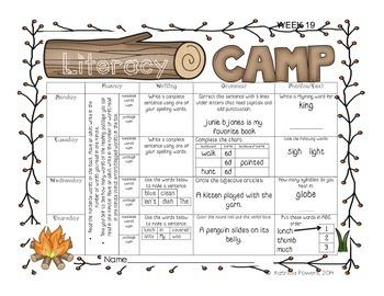 Literacy Camp Third 9 Weeks