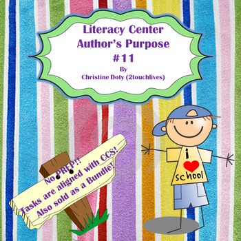 Literacy Center #11 Author's Purpose NO PREP!