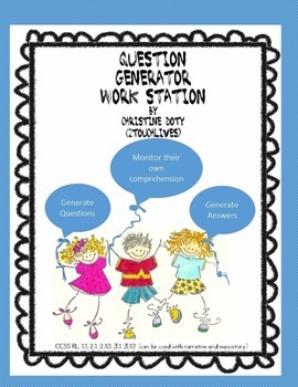 Literacy Center #7 Question Generator  NO PREP!