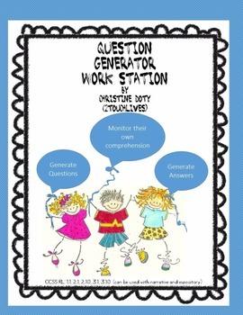 Literacy Center #7 Question Generator  NO PREP!