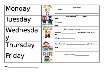 Literacy Center Accountability Sheet