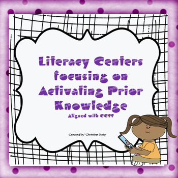 Literacy Center #5 Activating Prior Knowledge No Prep