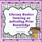 Literacy Center #5 Activating Prior Knowledge No Prep