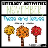 Literacy Center Activities for November