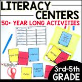 Literacy Center Activities Upper Elementary | Printable + Digital