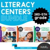 Literacy Center Activities Upper Elementary   Printable + Digital