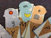 Literacy Center Activity - Alphabet Ice Creams