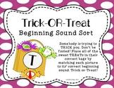 Literacy Center Activity: Beginning Sound Sort Halloween