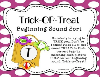 Literacy Center Activity: Beginning Sound Sort Halloween