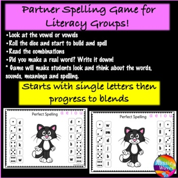 Spelling and Word-Building Game for Literacy Center Activity