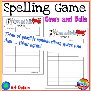 Spelling Game for Literacy Centers Guess the Words