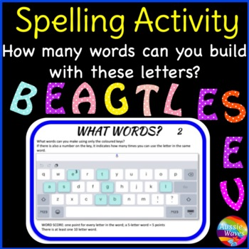 Spelling & Word Building Activity for Literacy Centers