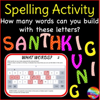 Independent Spelling & Word Building Activity Literacy Centers BOGGLE 12 LETTERS