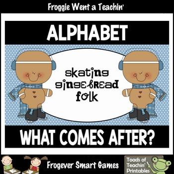 "Alphabet--What Comes After? ""Skating Gingerbread Folk"""