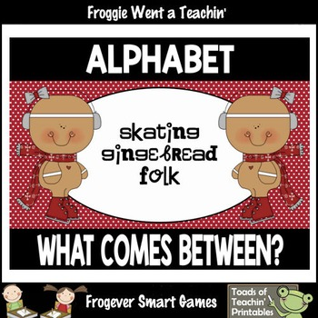"Alphabet--What Comes Between? ""Skating Gingerbread Folk"""