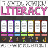 Literacy Center Automatic PowerPoint Chart